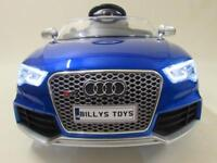 Audi RS5 licensed ride on cars with parental controls brand new