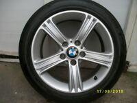 "bmw f30 f31 393 17"" alloy wheel with pirelli p7 225/50/17 runflat tyre 4mm"