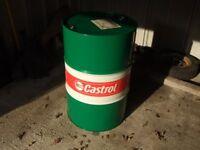 Empty castrol oil drum. Make garden table, seat, BBQ.