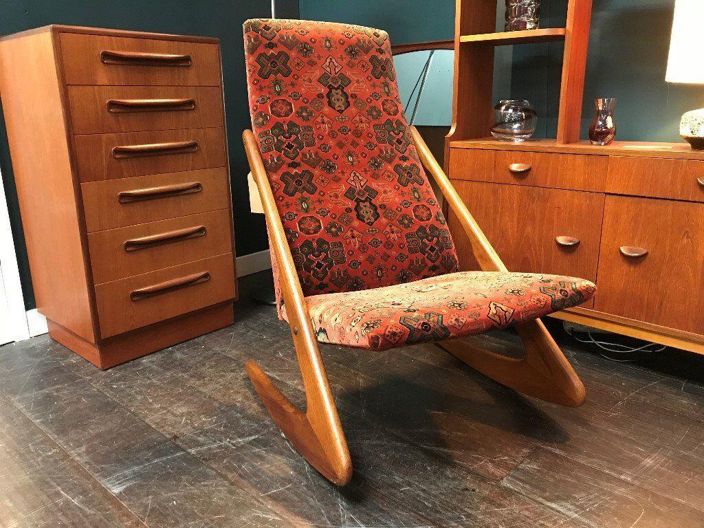 Mogens Kold Boomerang Rocking Chair Retro Vintage Mid