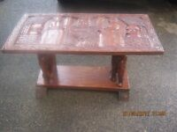 Carved Top Rectangle Occasional Table