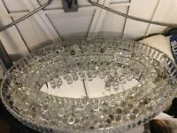 Beautiful oval glass crystal chandelier