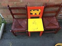 3 kids chair for free