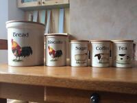 Old fashioned kitchen storage canisters