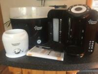 Tommee tippee perfect prep machine, electric steriliser and bottle warmer
