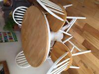 Farmhouse table & 4 chairs