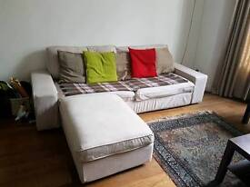 3 seater sofa bed with footstool