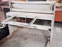 "MORGAN RUSHWORTH Foot Treadle Metal Guillotine 50"" Gas Spring Good Condition"