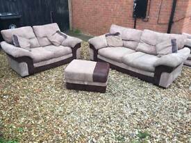 DFS 3+2 seater with foot stall