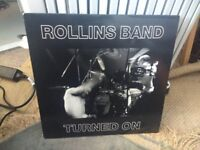 THE ROLLINS BAND - TURNED ON (LIVE DOUBLE LP 1989)