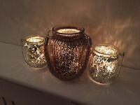Candle Jars / Vase (Gold) Wedding Decor x 13