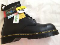 Dr Martens boots size 8 U.K. safety steel toe caps NEW BOXED