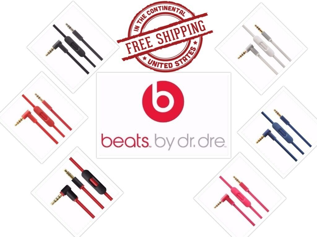 Original Cable Beats By Dre Headphones Wire Cord For AUX wit