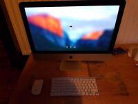 Apple mac i5 8GB ram, 1TB harddrive 21.5 inch , 2.7ghz proccesser