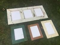 Handmade distressed picture frames