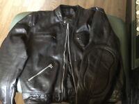 Leather motorcycle jacket xxxl