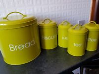 Lime green cannisters
