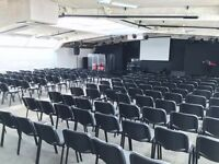 Lecture & Conference Hall for hire, ideal for up to 180 attendees.