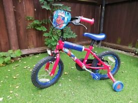 Boys Bike with stabiliser