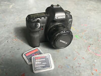 Canon 5D Mark II mk 2 + 50mm 1.8 + KomputerBay 64gb card etc