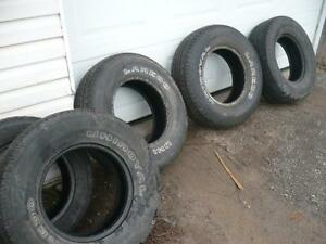 Four 235-75-15 tires $100.00