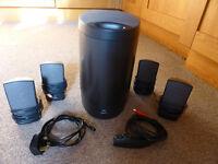 Logitec SoundMan Xtrusio DSR-100 100w 5-piece speaker set