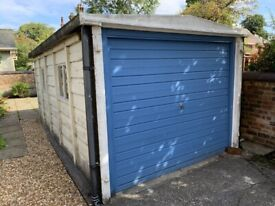 Demolition and removal of concrete garage