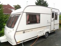 Luxury 2 berth 1998 Bailey Pageant Cabriolet CD Caravan with awning