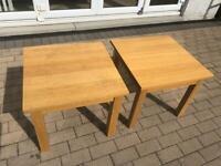 Solid oak lamp tables