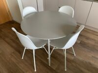 Danetti Round Grey Table Dining Set with four Chairs GREAT CONDITION