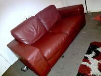 Original leather sofa..