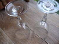 2 Large Wine Glasses---Perfect!