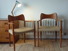 Pair Hovmand Olsen Side Dining Chairs Mogens Kold like Moller Free Delivery Poss