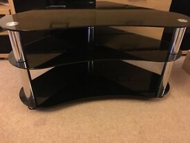 Black glass high quality corner tv stand perfect condition