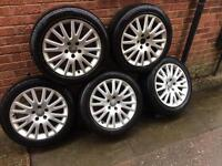Audi A4 alloys 17 inche will fit other cars like vw