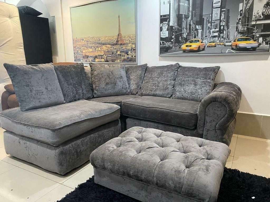 Grey Dfs Corner Sofa With Large Footstool In Bolton Manchester Gumtree