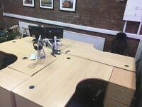 2 X Curved Office Desks £35 per Desk ONO