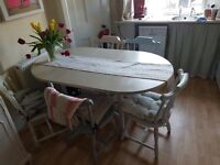 solid wood painted kitchen table and chairs