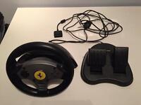 Thrustmaster Ferrari Challenge Racing Wheel (PS1/PS2)