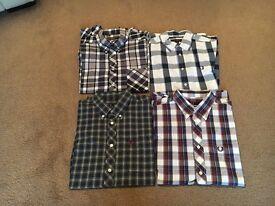Men's shirts, 2 Fred Perry, 2 Ben Sherman, size medium