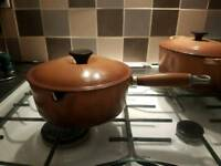 Le Creuset pan with wooden handle