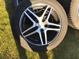 Alloys with winter tyres 205/55/16