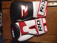 RDX Boxing gloves in red, black and white