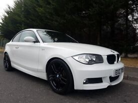 2010 BMW 120D M-SPORT 175BHP 6SPEED ALPINE WHITE RED LEATHER STUNNING EXAMPLE (EYE CATCHING COUPE)