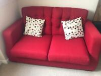 2 seater sofa bed with cushions