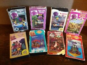 details about 8 original barney and the backyard gang vhs videos