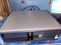 DELL OPTIPLEX GX620 DESKTOP PC COMPUTER WINDOWS 7, 80GB HDD, 2.80GHZ CPU, 1GB DDR2 RAM