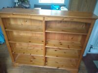 Solid pine bookshelf - £40 collection only.