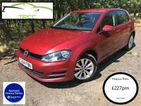 2014 Volkswagen Golf 1.6 TDI Red BlueMotion Tech SE (s/s) (18,000 FVWSH) Finance from 227 per month!