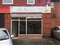 TO LET £866pcm Cafe Hot food Takeaway Catering Bakery 622SQft Beeston Leeds /Investment FOR SALE
